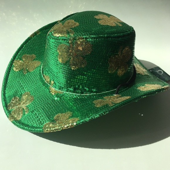8386ecca0cfad Sequin Shamrock Cowboy Hat ☘ St. Patrick s Day